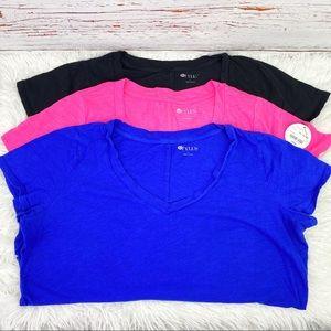 Bundle of 3 v neck tee shirts